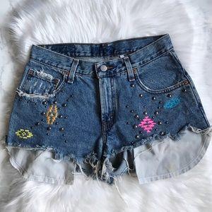 Levi's LF Furst Of A Kind Embellished Shorts